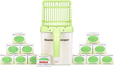Neater Pet Brands Neater Scooper and 195 Count Refill Bag Bulk Pack Value Bundle - Cat Litter Sifter Scoop System with Ext...