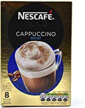 Original Nescafe Gold Cappuccino Decaf Coffee Sachets Imported From The UK England A Blend Of Instant Coffee Finely Ground Roasted Beans With Milk Sugar British Frothy Coffee