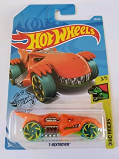 Hot Wheels 2019 Dino Riders T-Rextroyer, 89/250 Orange