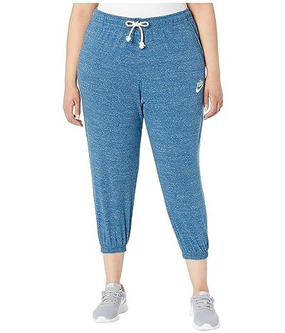 Nike Plus Size NSW Gym Vintage Capris (Valerian Blue/Sail) Women
