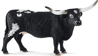 SCHLEICH Farm World Texas Longhorn Cow Educational Figurine for Kids Ages 3-8