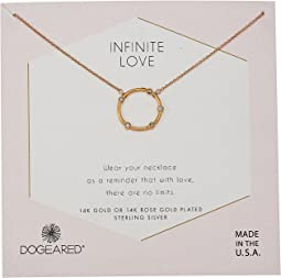 Infinite Love, Small Crystal Halo Necklace