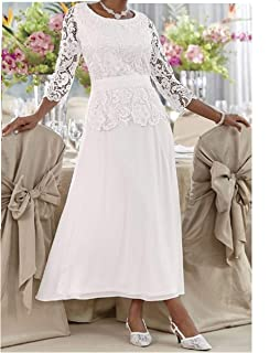 Mother of Bride Groom Wedding Party Prom Evening Formal Gown Dress Plus 18W 1X White