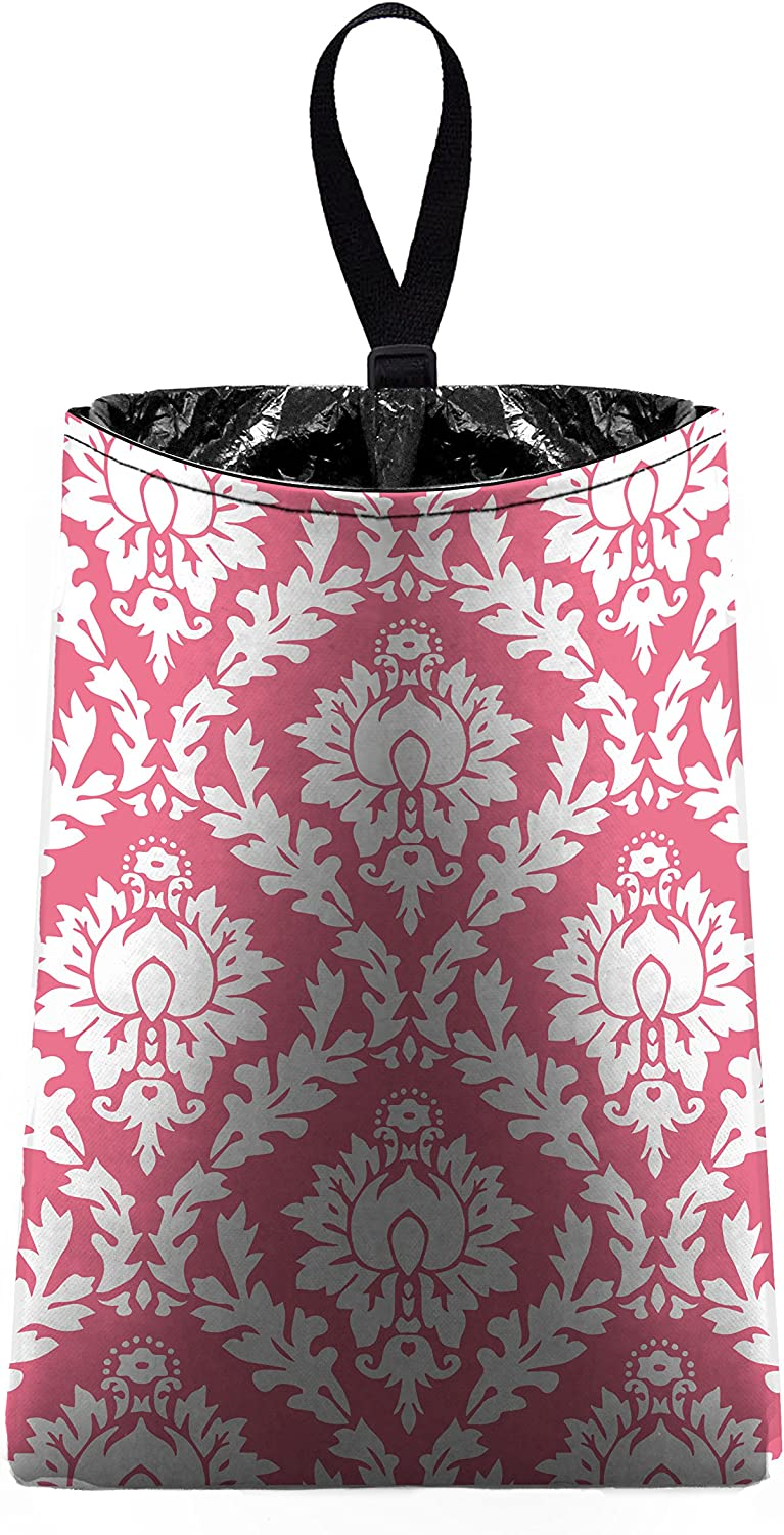 The Mod Mobile Auto Trash Pink and trash b by car White Damask New item Japan's largest assortment