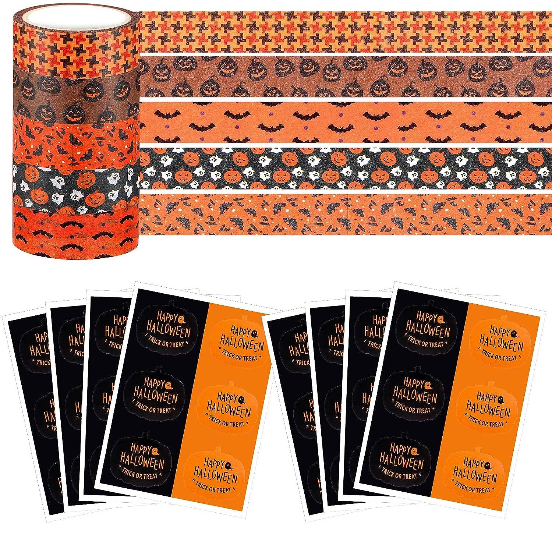 5 Rolls Halloween Washi Tape Orange Fall Holiday Cute Arlington Fashionable Mall
