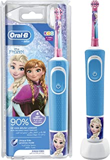 Oral-B Kids Vitality 100 Electric Rechargeable Toothbrush (Frozen) with UAE 3 pin plug