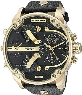 Diesel DZ7371 Mr Daddy 2.0 Black Leather Strap Chrono Watch 57mm