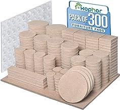Meubelpads 300PCS zelfklevende meubels vilten pads voor meubels voeten vilt pads voor stoel benen anti kras - enorme hoeve...