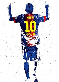 Kai'Sa Lionel Messi Figure Poster Art Print Posters 18×24 Inches Unframed Poster Print