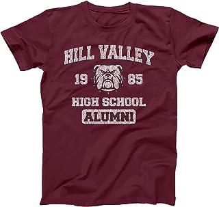 Hill Valley 1985 Funny Classic Back Future High School California Retro 80s 90s Movie Humor Mens Shirt