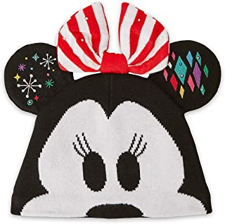 Disney Minnie Mouse Light-Up Knit Holiday Ear Hat for Kids Multi