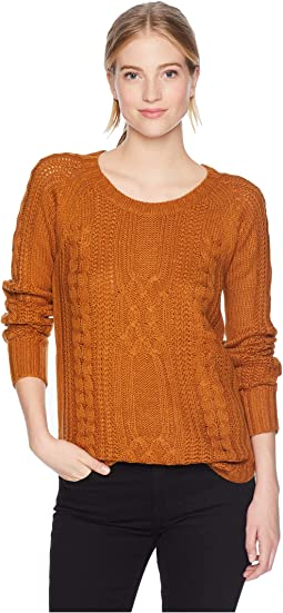 Scoop Neck Raglan Long Sleeve Pullover