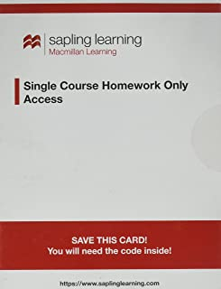 Sapling Learning Single-course Homework-only for Biology Access Card