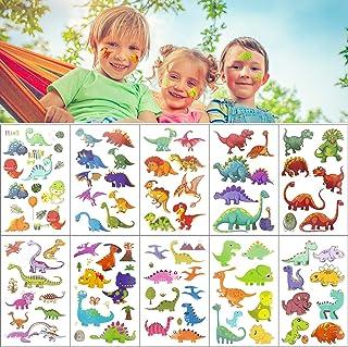 Comius Sharp barn tatueringsset, 10 set dinosaurier tatueringar tillfällig barnkalas fest present till flickor pojkar