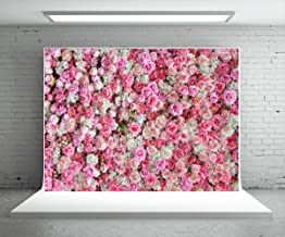 HMTfoto 5x7ft Happy Birthday Day Backdrop Wedding Backdrops Pink Red Rose Flowers Photography Backdrop Microfiber Studio Photographers Background Booth Props
