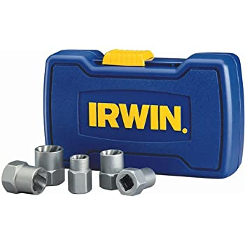 Power-Grip Screw Extractor Set WITH CASE Made in U.S.A. IRWIN 394100 7 Pc