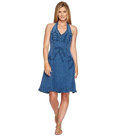 Scully Cantina Halter Dress (Dark Blue) Women