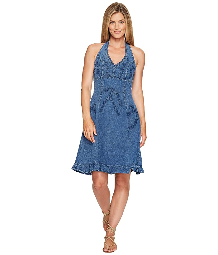 Scully Cantina Halter Dress in Blue