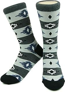 El Paso Americana Style Socks- Gray/Black - Mens, Boys Organic Cotton Santa Fe