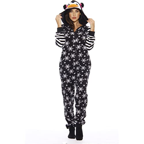 ce9cf50fb Just Love Holiday Penguin Adult Onesie Pajamas