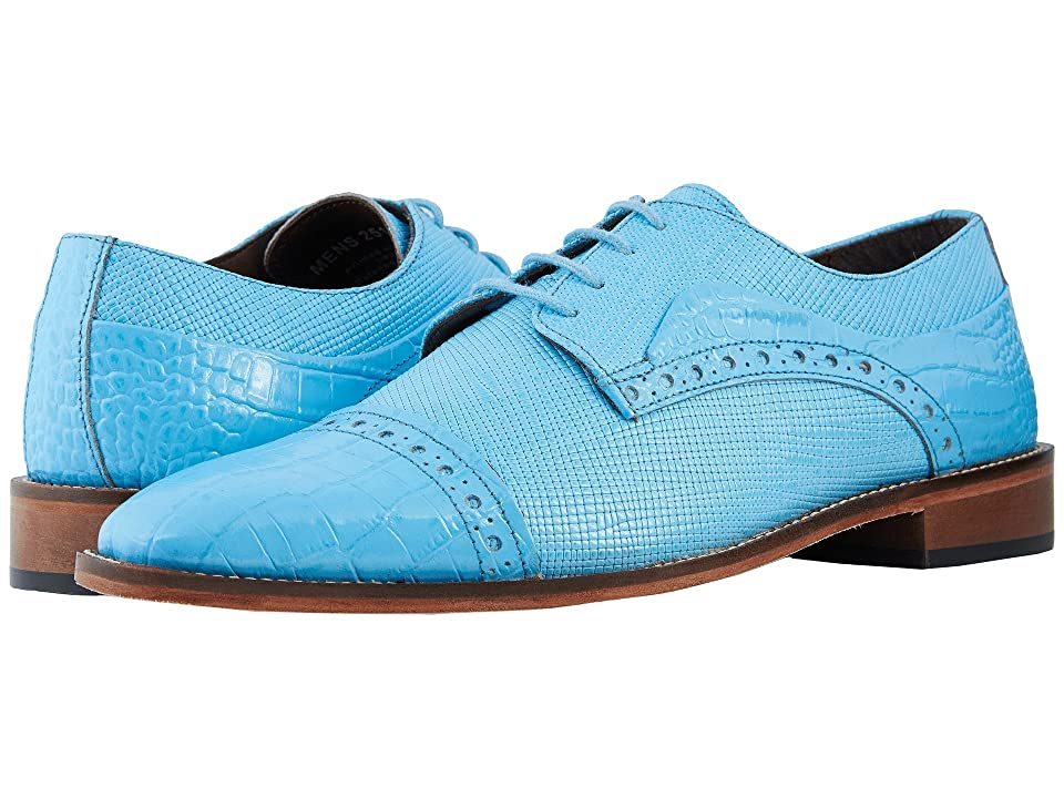 Stacy Adams Rodrigo Cap Toe Oxford (Blue Topaz) Men