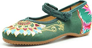 CINAK Womens Embroidered Shoes Chinese Flats Women's Cheongsam