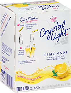 Crystal Light Sugar-Free Lemonade Drink Mix (120 On-the-Go Packets, 4 Packs of 30)