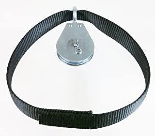 Spud Econo Pulley LAT Pulldown Machine Cable Attachment Extra Pulley Only (Black)