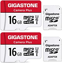 Gigastone 16GB 2-Pack Micro SD Card, Camera Plus 85MB/s, Full HD Video, U1 C10 Class 10 Micro SDHC UHS-I Memory Card, with...