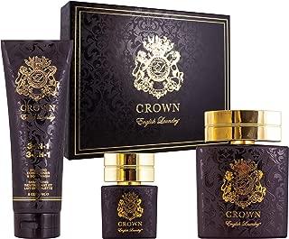 English Laundry Crown fragrance 3 Piece Edp Gift Set, 3.4 Oz.