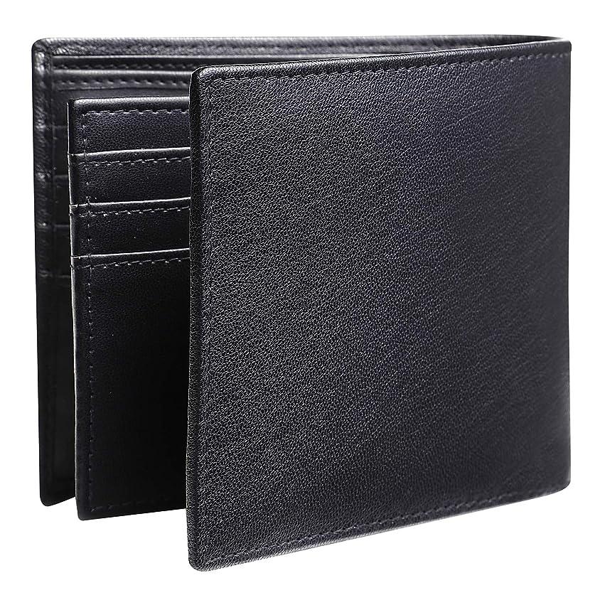 アルプスサルベージペインギリック[oryzae] 財布 メンズ 二つ折り 本革 牛革 レザー 取り外し式 カード14枚