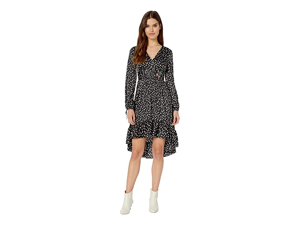 Betsey Johnson High-Low Hole Punch Dot Dress with Cherry Embellishment (Cookies