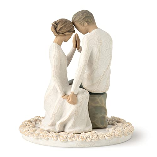 Willow Tree hand-painted sculpted Cake Topper, Around You