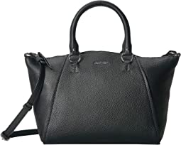 Avery Pebble Leather Satchel