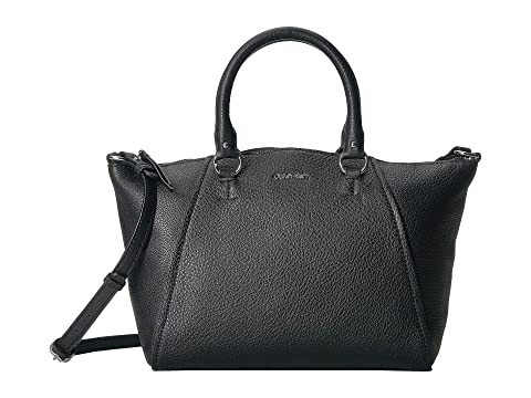 51e08168d5 Calvin Klein Avery Pebble Leather Satchel at 6pm