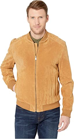 Suede Zip Front Water Resistant Jacket