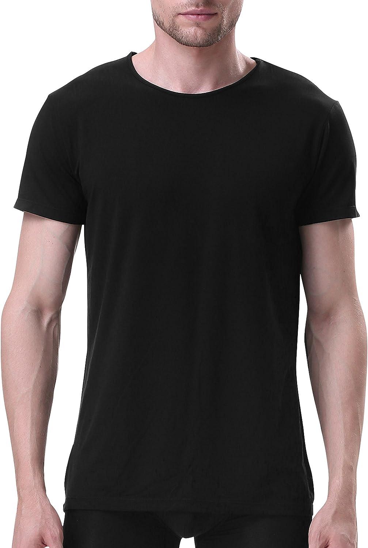 - David Archy Men's 3 3 3 Pack Soft Bamboo Fiber Crew Neck Short Sleeve T-Shirts 7ec606