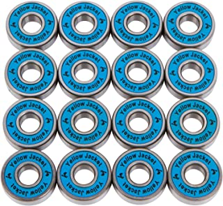 Yellow Jacket Premium Inline Skate Bearings, Roller Skate Bearings, 608, ABEC (Pack of 16)