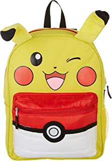 "Pokemon Pikachu 16"" Backpack with Puff Pocket, Yellow, Size 16.0"