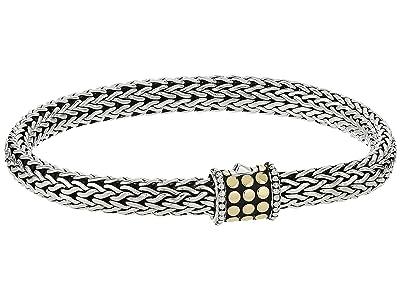 John Hardy Dot 6.5mm Bracelet (Silver/18K Gold) Bracelet