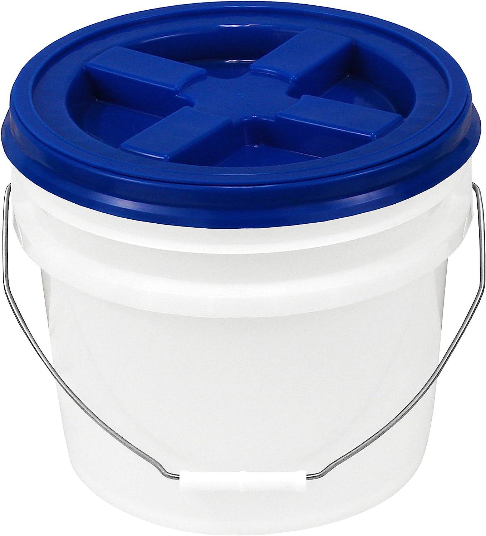Bucket Kit 3.5 Gallon Bucket with White Gamma Seal Screw-on threaded lid