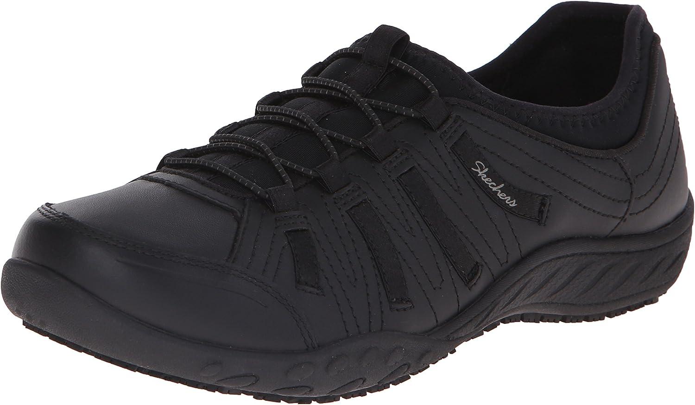 Skechers for Work Women's 76578 Bungee Lace-Up Sneaker