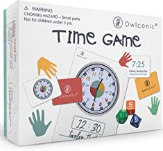 Telling Time Teaching Game. A Great Visual Teaching Aid for Kids Learning Analog and Digital Time. An Awesome Educational Resource Toy for Children, Homeschool Supplies, Classroom & Teachers.