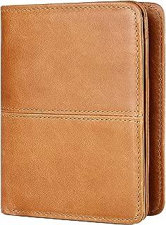 Mens Leather Wallet RFID Blocking Front Pocket Credit Card Purse Brown Men Gifts