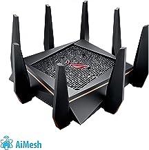 ASUS ROG Rapture GT-AC5300 - Router Gaming Tri-Banda con 8 puertos Gigabit (2 puertos gaming, Radar Wifi, Gaming APP, Link aggregation, adaptive QoS, compatible con AiMesh wifi)