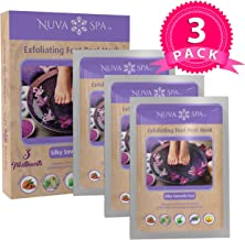 Nuva Spa Foot Peel Exfoliator – Callus Remover Treatment - Dead Skin Peels Off Feet in 1-2 Weeks - Natural Lavender Exfoliating Foot Mask Repairs & Moisturizes for Soft, Silky Smooth Feet, 3 Pack