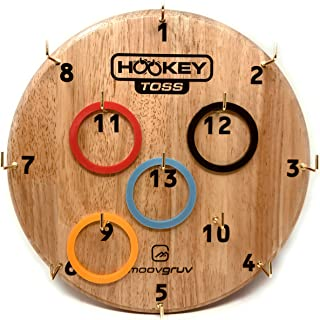 moovgruv Hookey Toss Ring Toss Game! 4 Player Ring Toss Games for Adults and Outdoor Games for Kids! Hook and Ring Game for Yard Games, Camping Games, Carnival Games and Kids Party Games