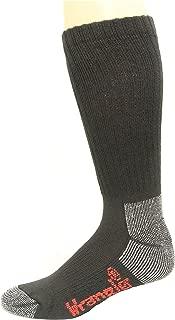 Wrangler Men's Steel Toe Boot Sock 2 Pair, Black, W 10-12/M 8.5-10.5