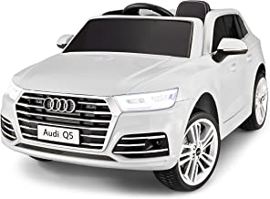 Kid Trax Electric Kids Luxury Audi Q5 Car Ride-On Toy, 6 Volt Battery, Remote Control, Ages 3-5 Years, White