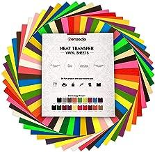 Heat Transfer Vinyl HTV Bundle: 20 Pack Assorted Colors 12